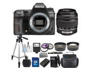PENTAX K-3 Black 23.35 MP Digital SLR Camera With 18-55mm AL Lens Bundle