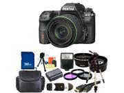 PENTAX K-3 Black 23.35 MP Digital SLR Camera With 18-135mm WR Lens Bundle