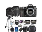 PENTAX K-3 Black 23.35 MP Digital SLR Camera With 18-55mm AL Lens & 50-200mm WR Lens Bundle