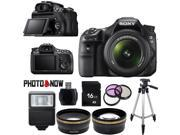 Sony Alpha SLT-A58 Digital SLR Camera with DT 18-55mm f/3.5-5.6 SAM II Lens Essential Bundle
