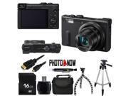 Panasonic LUMIX DMC-TZ60 / ZS40 Digital Camera (Black) With Essential Bundle