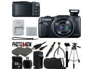 Canon PowerShot SX700 HS 9338B001 Black 16.1 MP 25mm Wide Angle Digital Camera HDTV Output With Advanced Bundle