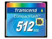 Transcend 512MB CF Industrial CompactFlash Card 80x CF80. Model TS512MCF80