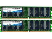 ADATA 2GB DDR PC3200 400MHz CL3 Dual Channel kit (2x1GB) Model AD1U400A1G3-2