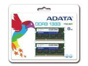 ADATA 8GB (2x4GB)DDR3 PC-10666 1333MHz SO-DIMM Laptop Memory RAM 204 pin Model AD3S1333C4G9-2