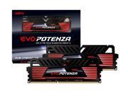 GeIL EVO Potenza 16GB Black DDR3 PC3-19200 2400MHz CL11 Dual Channel kit (2x 8GB) Model GPB316GB2400C11BDC