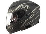 G-Max GM54S Modular Street Motorcycle Helmet Flat Black/Silver Derk Medium