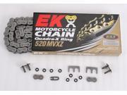 EK 520 MVXZ Quadra X-Ring Chain - 120 Links - Red 801R-520MVX-120