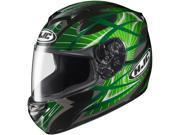HJC CS-R2 Storm Motorcycle Full Face Helmet Green Size Large