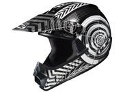 HJC Helmets Cl-Xy Wanted Gloss Black Black/White/Helmet Silver Size Small Youth
