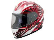 Scorpion EXO-R2000 Ion Full Face Motorcycle Helmet Red Size Large