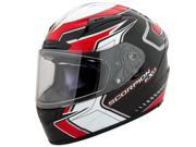 Scorpion EXO-R2000 Circuit Full Face Motorcycle Helmet Red Size Large