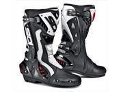 Sidi ST Air Black/White Racing Motorcycle Boots Size US 10 EUR 44