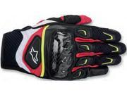 Alpinestars SMX-2 Air Carbon Gloves Black/White/Yellow/Red Large