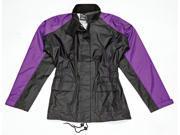 Joe Rocket Motorcycle RS-2 Rain Suit Ladies Black/Purple Size Small