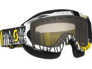 Scott USA Hustle Snowcross Goggles Oil Slick Yellow/Black/Rose Lens