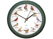Mark Feldstein and Associates SBC107 Original Singing Bird Clock 10.7 in Green