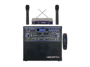 Vocopro GIG-STAR PROII 100W Karaoke System with Dual Wireless Microphones with 20 Discs