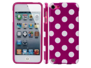 MiniSuit Polka Dot Soft Rubberized Case Cover for iPod Touch 5 (Magenta Pink)