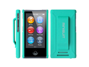 MiniSuit JAZZ Slim Shell Case with Belt Clip + Screen Protector for iPod Nano 7 (Green)