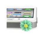 MiniSuit Universal Cell Phone Dustplug for 3.5mm Earphone Jack Cap (Sky Blue Daisy)