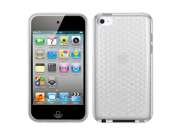 MiniSuit Apple iPod Touch 4g Hexagon TPU Skin Case (Translucent Clear) + LCD Keychain Cleaner