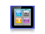 iPod Nano 6th Generation skin case for iPod Nano 6G / 6th Gen compatible with 8GB / 16GB + MiniSuit Microfiber Key Chain (Blue)