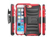 "Minisuit for iPhone 6 (4.7"") Rugged Hybrid Kickstand Case + Belt Clip (Red)"