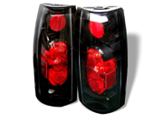 Chevy Tahoe 1995 96 97 98 99 Altezza Tail Lights G2 Version Black