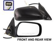 CAMRY 97-01 SIDE MIRROR RIGHT PASSENGER, Power, Black