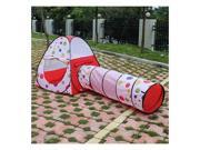 Kids Indoor/Outdoor Tunnel Tents Play House Set Childrens Pop Up Toy Hut