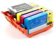 Set of 4 Ink Cartridges for Hewlett Packard (HP 920XL) CD972AN/ CD973AN/ CD974AN/ CD975AN : Includes One of Black/ Cyan/ Magenta/ Yellow After-Market Product