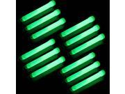 "12pcs 6"" -inch Snap Light Stick Glow sticks 12 Hour - Green Color"