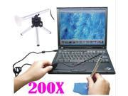 200x Mini Portable LED USB Digital Microscope Endoscope Otoscope Camera