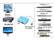 2 in 1 Aluminum Mini DP Display Port to HDMI & VGA Converter Adapter Cable for Apple MacBook Pro Air, Mac Mini, iMac & Laptop w/ the Mini DP interface