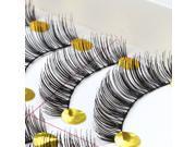 AGPtek 10Pairs Makeup Handmade Natural Fashion Long False Eyelashes Eye Lashes