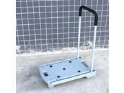 Plastic Flatform 4-wheel Grey Foldable Cart 100kg/220LB Capacity Trolley Folding Hand Pallet Trucks dolly