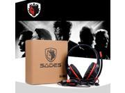 SADES SA-809 Head-band Wired PC Gaming Stereo Headphone Headset With Microphone