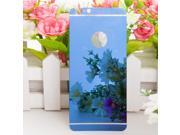 """Electroplating Mirror Effect Color Tempered Glass Back Protector for iPhone 6 Plus 5.5"""" Blue"""