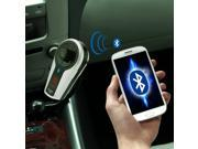 AGPTEK Bluetooth Car Kit Handsfree FM Transmitter  with USB Charging , Music Control and Hands-Free Calling -Phone Calls Reminding Works with IPhone , Samsung , HTC , LG , Tablets , MP3 Players