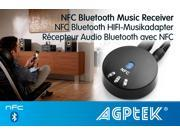 NFC-enabled Bluetooth 3.5mm Audio Receiver Wireless Music Receiver for Car Home Stereo Black