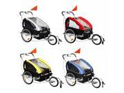 Confidence 2 in 1 Baby Bike Trailer w/ Suspension - Yellow