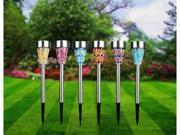 Solarek Stainless Steel Vas Mosaic Solar Lawn Garden Lights (6 Pack) - 6 Colors