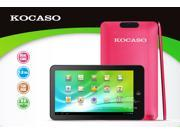 Kocaso M772 Dual Core 1.6Ghz Dual Camera 1GB DDR3  8GB Memory Android 4.1 Capacitive Tablet PC (Red), Support external 3G module dongle !