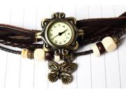 New Beautiful ,Fashionable and attractive Bohemian style Retro Handmade Leather Women's Watches for Beauty-Brown