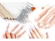 New 21pcs Nail Art Design Painting Dotting Pen Brushes Tool Set / Nail Kit