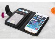 Wallet Series PU Leather Case Cover for iPhone 5/5s (Black)