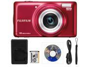 "FUJI T400-Red-16MP-HD Movies-10x Wide-Angle Opti-Zoom-3"" LCD"