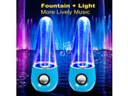 Multi-colored LED Lamp Cone Shape Dancing Water Speakers Fashion Show Fountain Speakers (White)