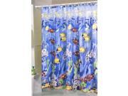 New Assorted Fishes Nemo Fabric Shower Curtain Liner Set Blue Yellow Orange